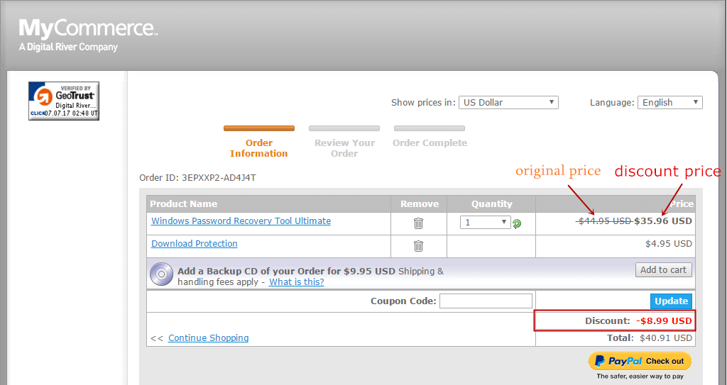how to use coupon coupon code for password recovery tool