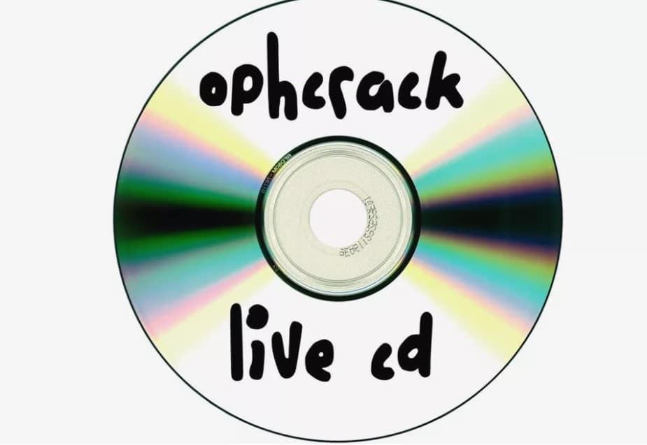 burn ophcrack live cd