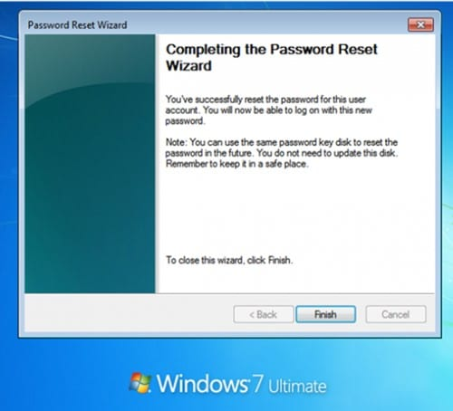 complete password reset
