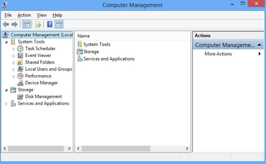 computer management window