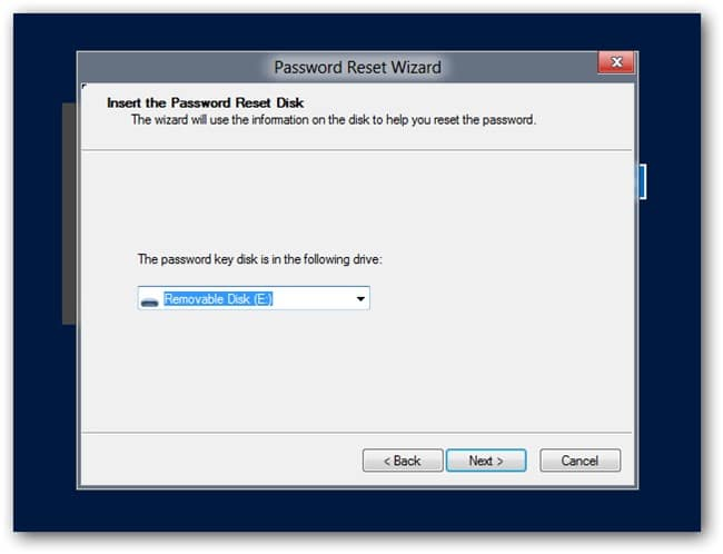 password reset disk in Windows 10