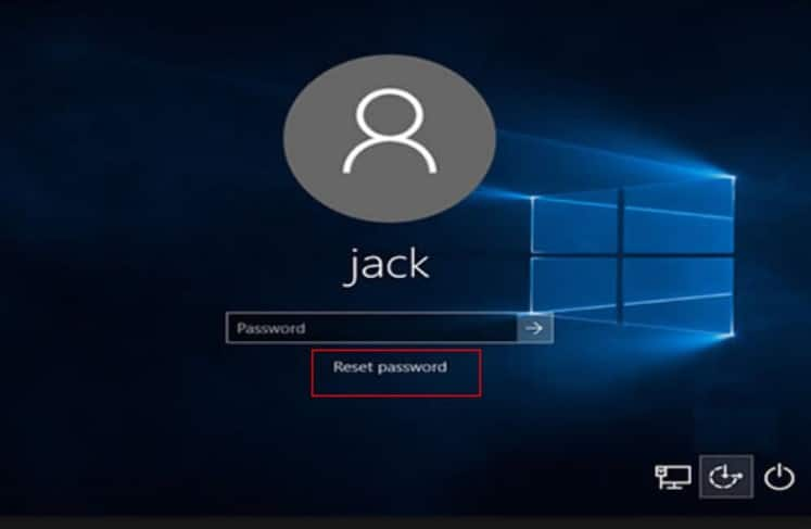 forgotten password on laptop windows 10