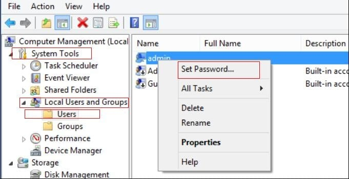 Hack Windows password with another Administrator Account