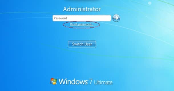 windows 7 reset password