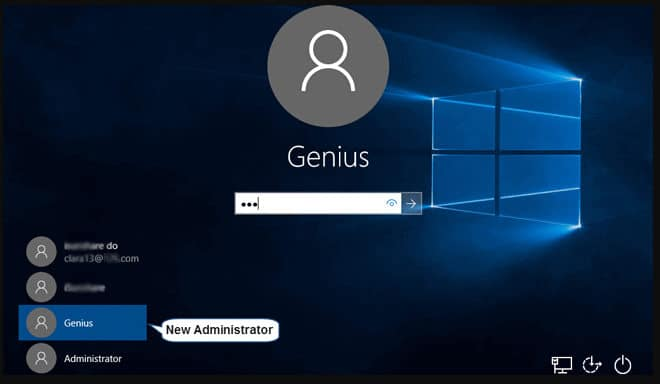 access the sac account in Windows 8