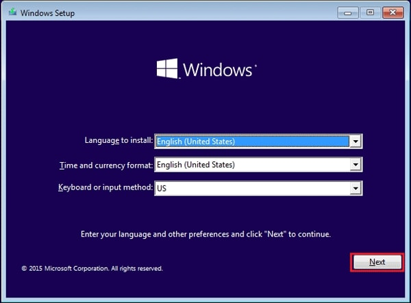 use installation disk to factory reset windows 10 without password