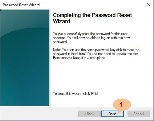 complete password reset Windows 10