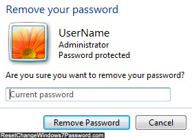 enter current password windows 7