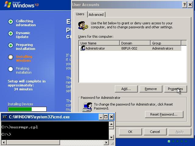 Réinitialiser le mot de passe oublié de Windows Xp avec le disque d'installation