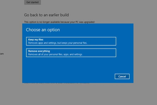 alles in windows 10 entfernen