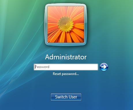 Reset Windows Vista Password with password reset disk