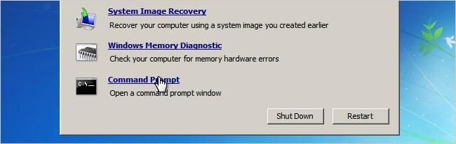 run command prompt Windows 7