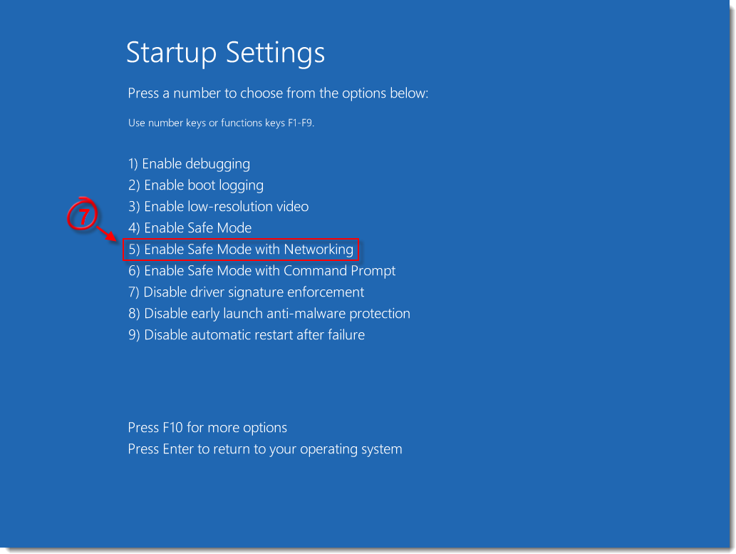 Start Windows 8/10 in safe mode