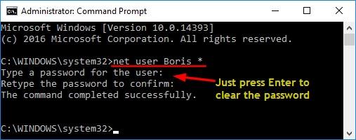 user administrator Windows 10