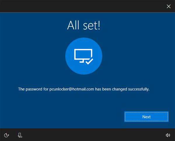 Windows 10 password all reset