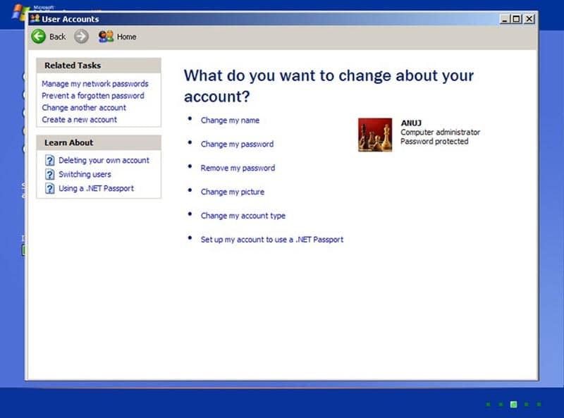 Changer mon mot de passe dans Windows xp