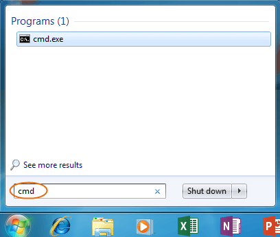 run cmd in Windows 7