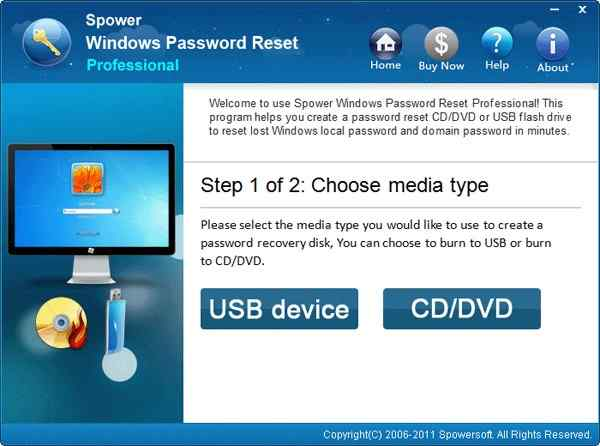 Ophcrack Alternative 3 - Spower Windows Password Reset