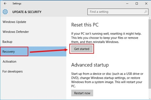 get started to reset Asus laptop with password
