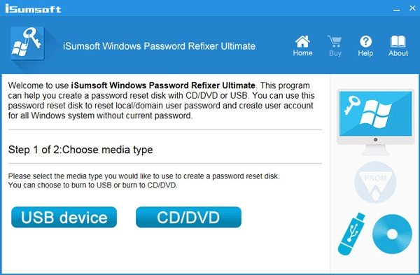 isumsoft windows password refixer choose boot media