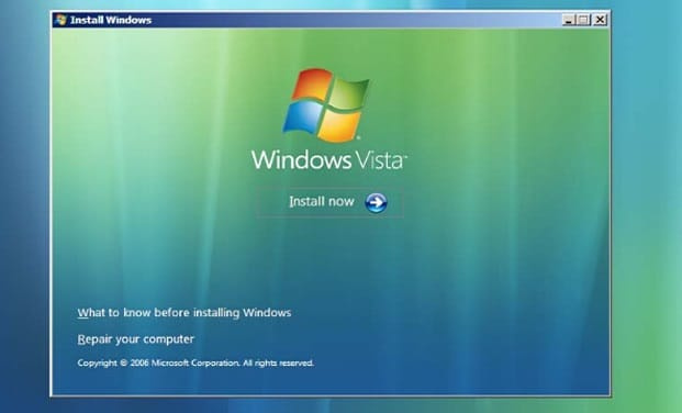 Windows Vista repair computer
