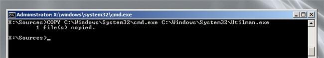 command copy in windows server