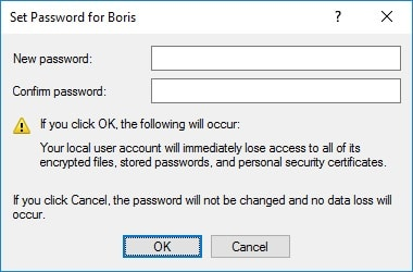 erase admin password windows 10