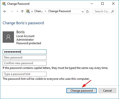 remove password in Windows 10