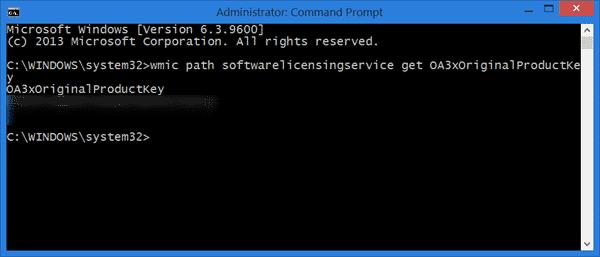 Find Windows 1088.1 Product Key Using cmd