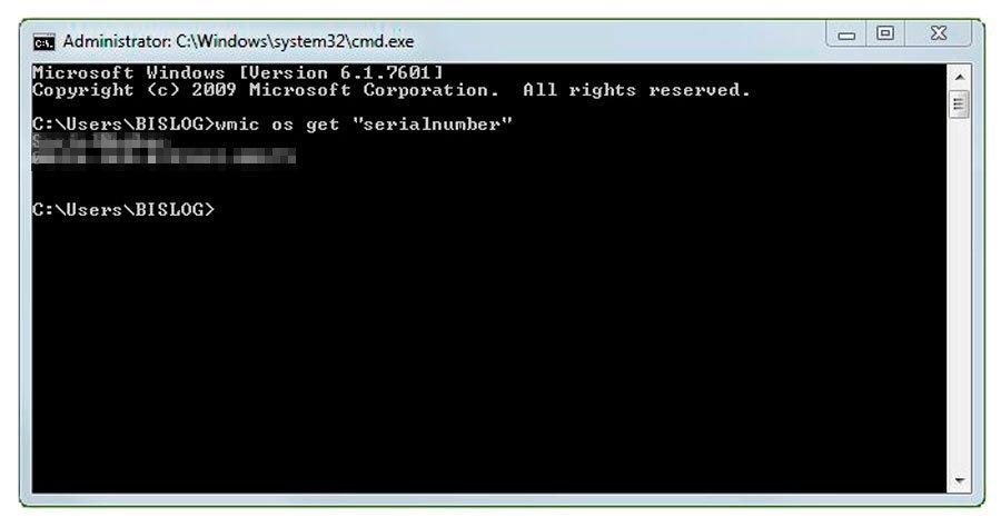 Find Windows 7 Product Key Using cmd