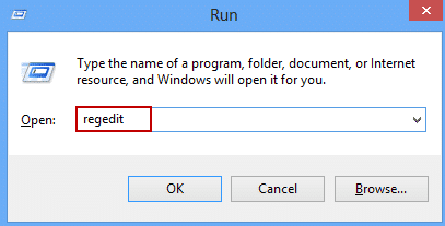 run regedit in windows 8