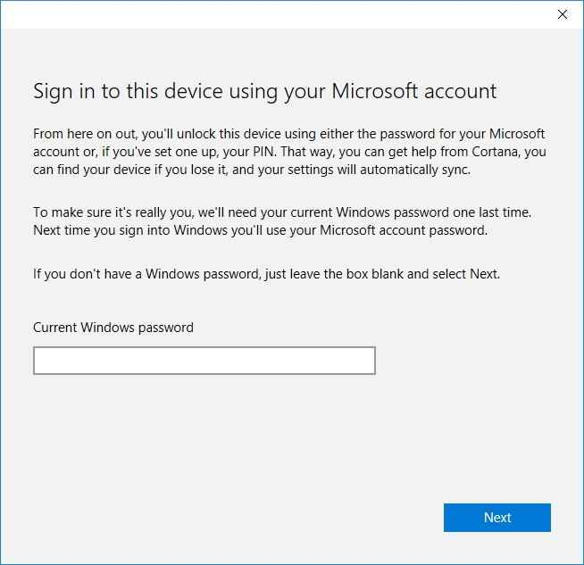 sign in to this device using microsoft account in windows 10