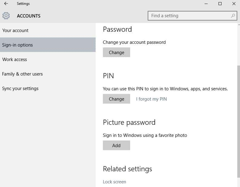 unlock windows 10 with pin passcode