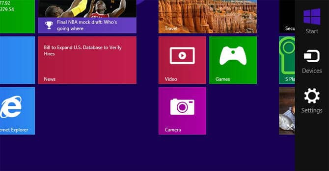 windows 8 settings