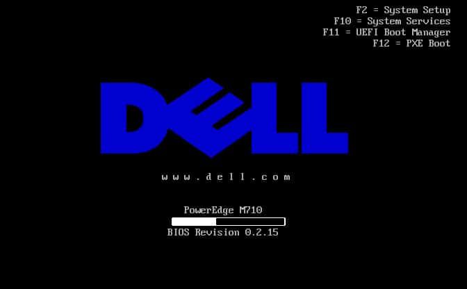 dell laptop loading screen