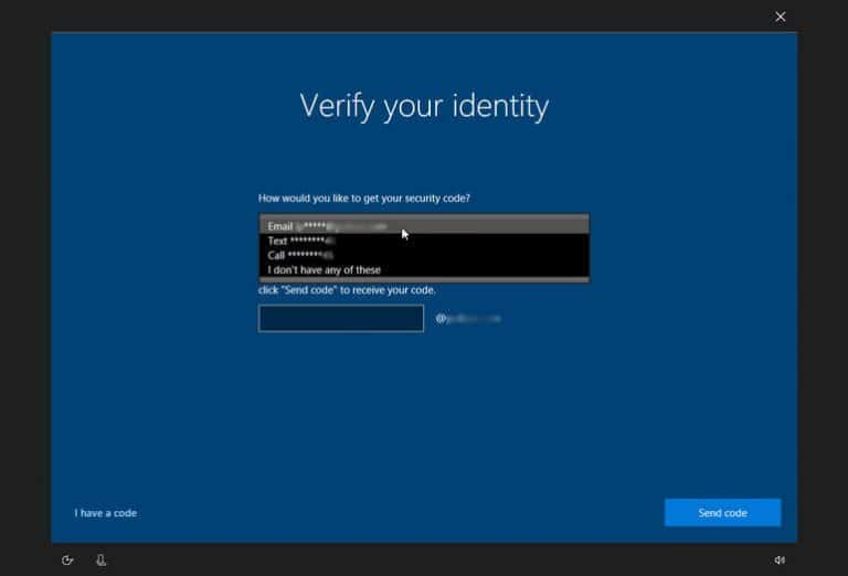 verify your identity in windows 10